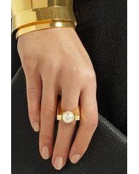 Chloé - Metallic Darcey Gold-tone Swarovski Pearl Ring - Lyst