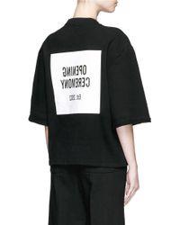Opening Ceremony Black Mirrored Logo Cropped Cotton Sweatshirt