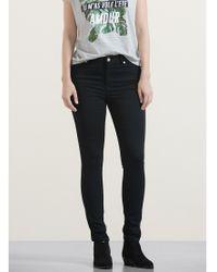 Violeta by Mango Gray Super Slim-fit Alexandra Jeans