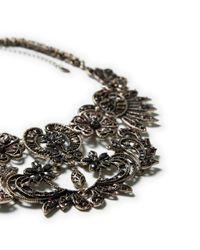 Zara | Metallic Combination Chain Necklace | Lyst