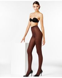 Wolford | Black Stripes Tights | Lyst
