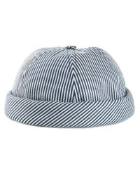 Beton Cire Blue Striped Turned Up Hat for men