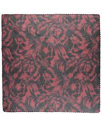 Contileoni - Red Square Scarf - Lyst