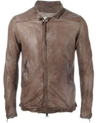 Giorgio Brato | Brown Front Zip Jacket for Men | Lyst