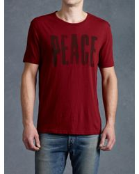 John Varvatos | Red Big Peace Graphic Tee for Men | Lyst