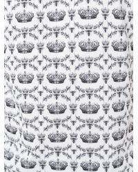 Dolce & Gabbana - White Crown & Bee Panel Print T-shirt for Men - Lyst