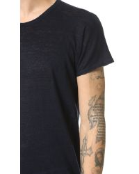 Homecore | Blue Aero Linen Tee for Men | Lyst