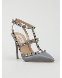 Valentino Rockstud Pumps in Grey (Gray