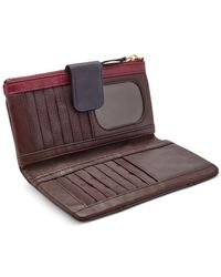 Fossil Red Emory Leather Clutch Wallet