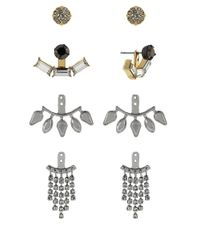 BCBGeneration - Metallic Earring Jacket 4-Pair Set - Lyst