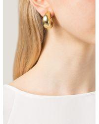 Vaubel Metallic Flat Hoop Clip Earrings