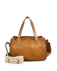 The Row - Brown Drum 10 Leather Crossbody Bag - Lyst