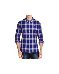 Stussy - Blue Plaid Regular Fit Button Down Shirt for Men - Lyst