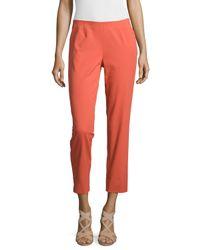 Lafayette 148 New York - Orange Bleecker Cropped Pants - Lyst