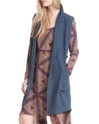 Plenty by Tracy Reese | Blue Open-front Knit Vest | Lyst