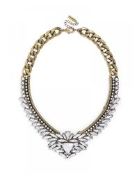 BaubleBar | White Crystal Trillion Collar | Lyst