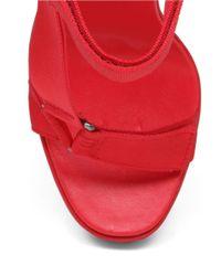 BCBGeneration | Red Casper Nylon Platform Wedge Sandals | Lyst