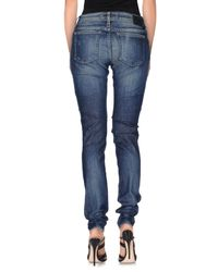 DRYKORN - Blue Denim Trousers - Lyst