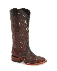 Lucchese | Red Studded Western Boot | Lyst