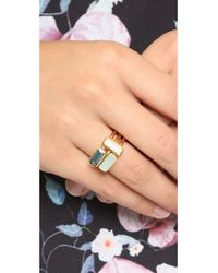Astley Clarke | Metallic Gem Stack Rings - Pink/blue/gold | Lyst