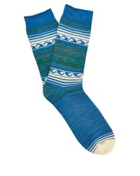 Anonymous Ism Blue Wave Socks for men
