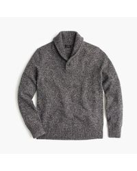 J.Crew | Blue Marled Lambswool Shawl-collar Sweater for Men | Lyst