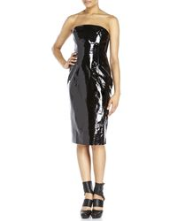 Givenchy - Black Strapless Patent Leather Dress - Lyst