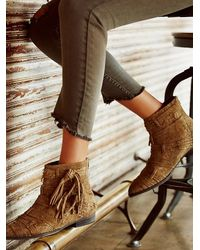 Free People | Brown Decades Ankle Boot | Lyst