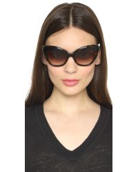 kate spade new york - Brown Odelia Sunglasses - Lyst
