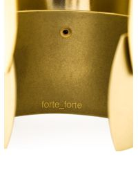 Forte Forte | Metallic Rigid Cuff | Lyst