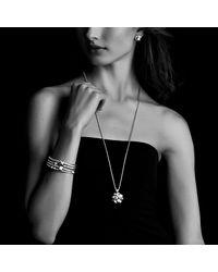 David Yurman | Metallic Petite Albion Earrings With Diamonds And Gold | Lyst