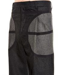Givenchy Gray Wide-leg Wool-flannel Trousers for men