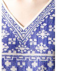 Étoile Isabel Marant | Blue Bela Intarsia Top | Lyst