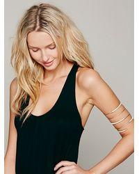 Nashelle | White Leather Bound Upper Arm Cuff | Lyst