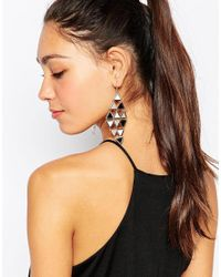 Oasis | Multicolor Enamel Cascade Earrings | Lyst