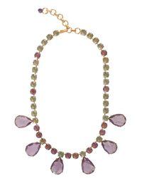 Bounkit | Purple Green Crystal & Amethyst Necklace | Lyst