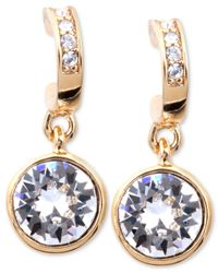 Givenchy | Metallic Gold-tone Swarovski Crystal Drop Earrings | Lyst
