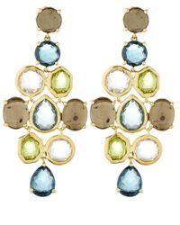 Ippolita Metallic Gold Rock Candy Chandelier Earrings