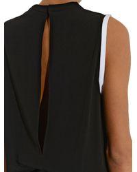 Helmut Lang Black Torsion Bi-Colour Crepe Jumpsuit
