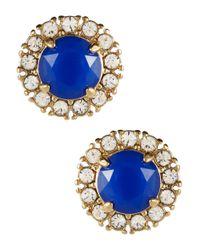 kate spade new york | Blue Secret Garden Stud Earrings | Lyst