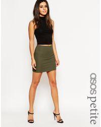 ASOS - Natural Pull On Rib Mini Skirt - Lyst