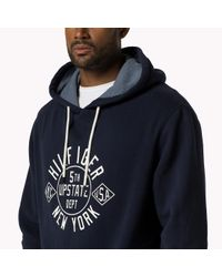 Tommy Hilfiger | Blue Big & Tall Zip Through Hoody for Men | Lyst