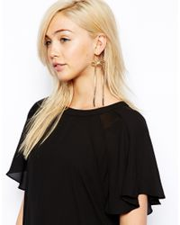 ASOS | Metallic Limited Edition Bow Chain Drop Earrings | Lyst