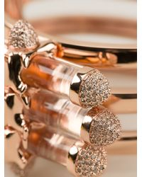 Eshvi - Metallic Cylindrical Bar Cuff - Lyst