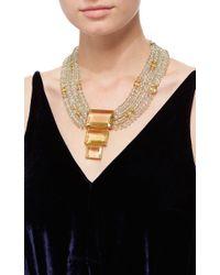 Bounkit | Multicolor Green Amethyst String Necklace With Lemon Quartz Pendant | Lyst
