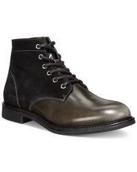 Armani Jeans | Black Suede/patent Boots for Men | Lyst