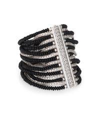 John Hardy | Metallic Bedeg Black Chalcedony & Sterling Silver Batu Multi-Row Bracelet | Lyst