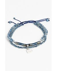 Chan Luu | Blue Beaded Adjustable Bracelets | Lyst