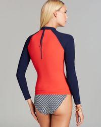 Tory Burch Blue Portofino Surf Shirt Rashguard