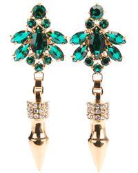 Mawi Green Drop Earrings